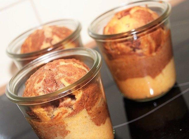 Marmorkuchen Kuchen im Glas