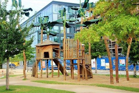 Piratenspielplatz am Grasbrookpark Hafencity