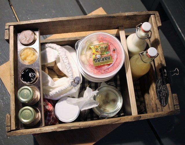 Frühstückskiste auf Middenmank - der erste Höhepunkt des Tages!!