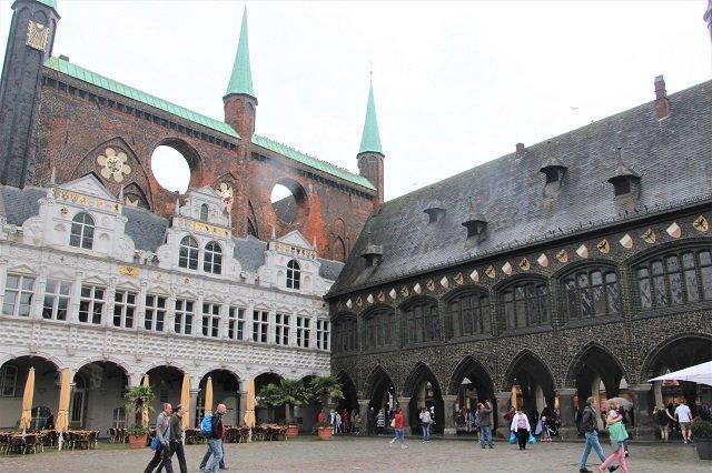 Lübeck Innenhof Rathaus