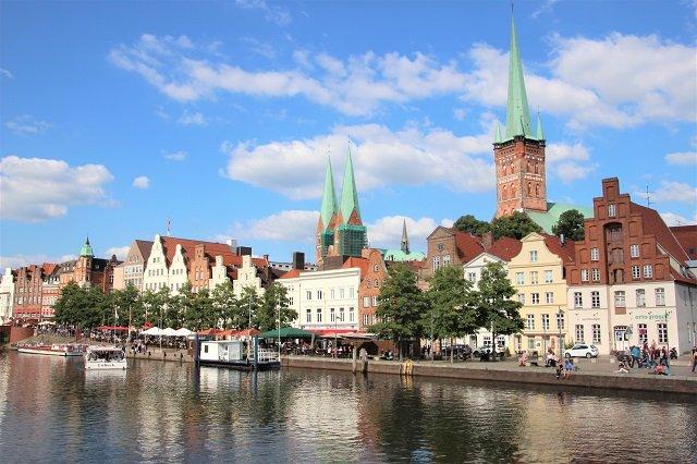 Lübeck Panorama Untertrave