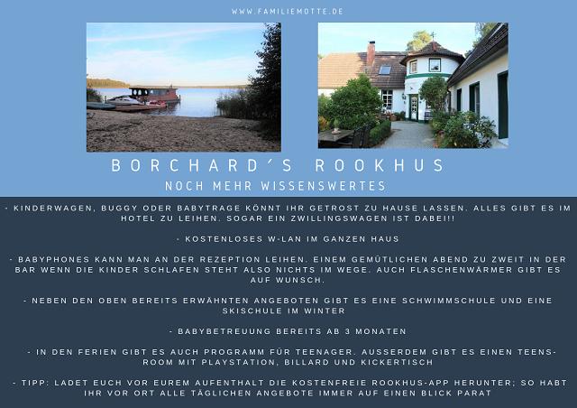 Borchard´s Rookhus familotel Mecklenburgische-Seenplatte Nützliches