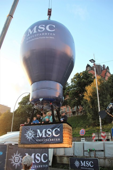 Hamburg Cruise Days MSC Heißluftballon
