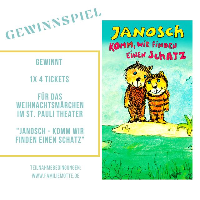 Gewinnspiel Janosch - Komm wir finden einen Schatz