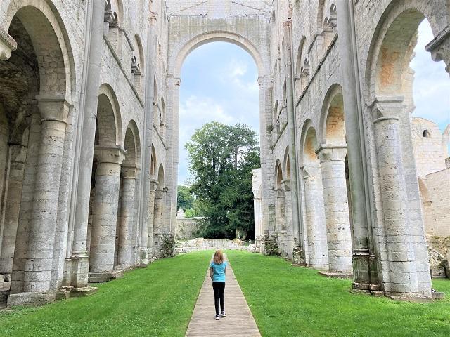 Nomandie mit Kindern - Abtei Jumièges